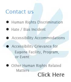 Equity and Human Rights Contact Form