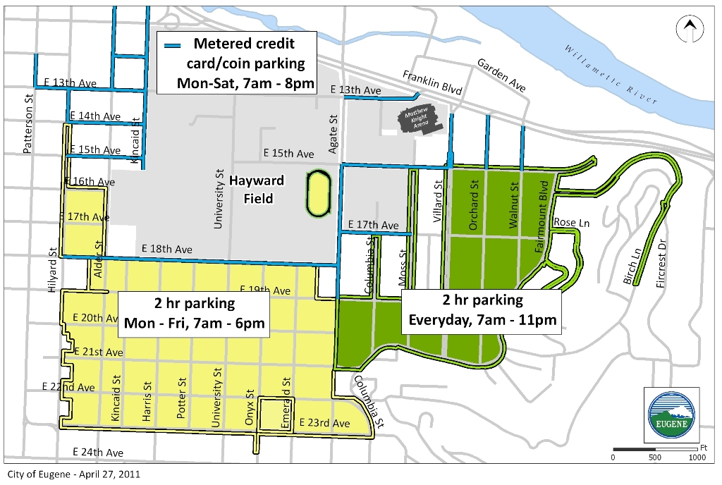 Map of Campus and Arena Parking