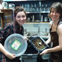 Photo of Townshend's Tea House employees composting.