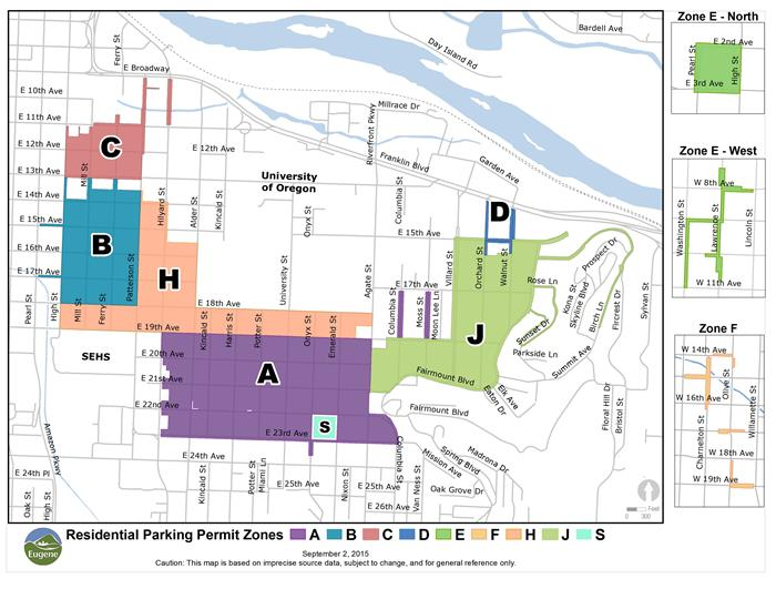 Map of Residential Parking Zones