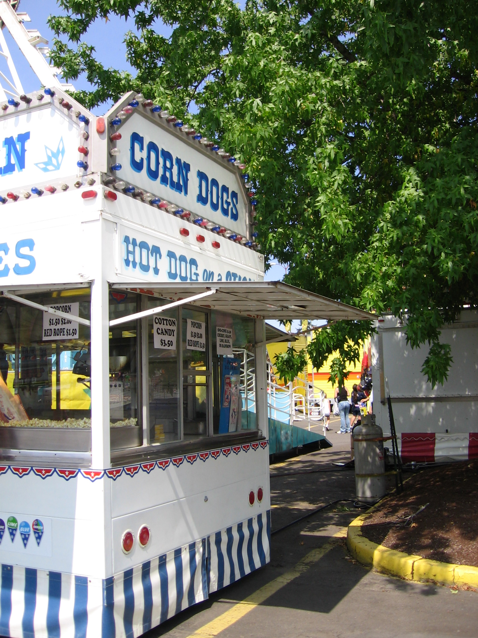 Corndog stand at a fair