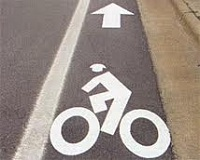 Bike Lane With Bike Illustration