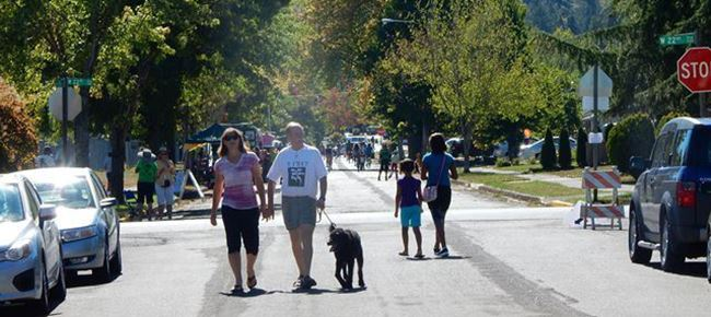Walking the carless streets during the Eugene Sunday Streets event in the Friendly Neighborhood