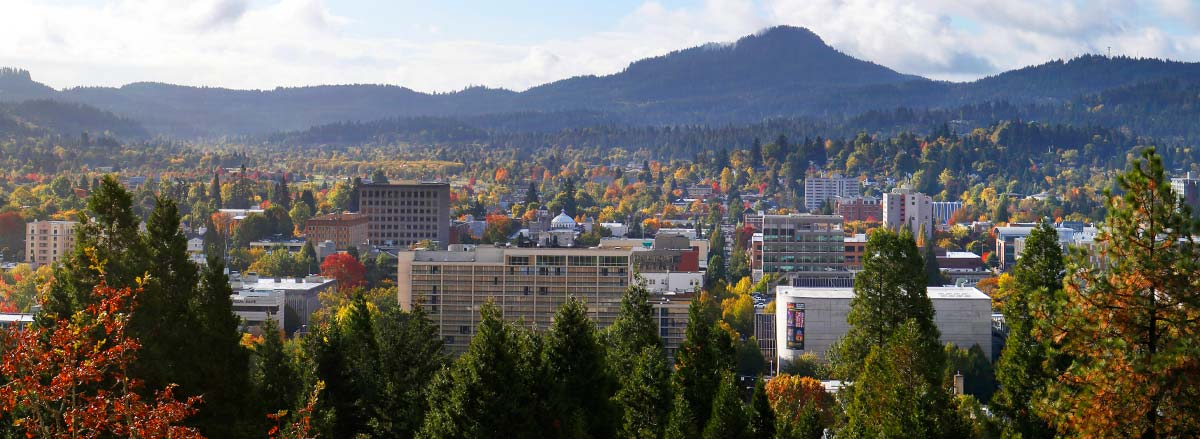 Eugene Autumn skyline