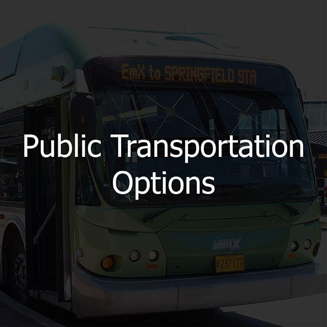 public transportation options button link