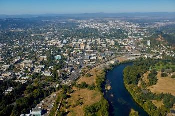 Photo by Steve Smith - Aerialimage of EWEB and Willamette River