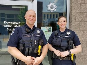 Summer Downtown Police Officers