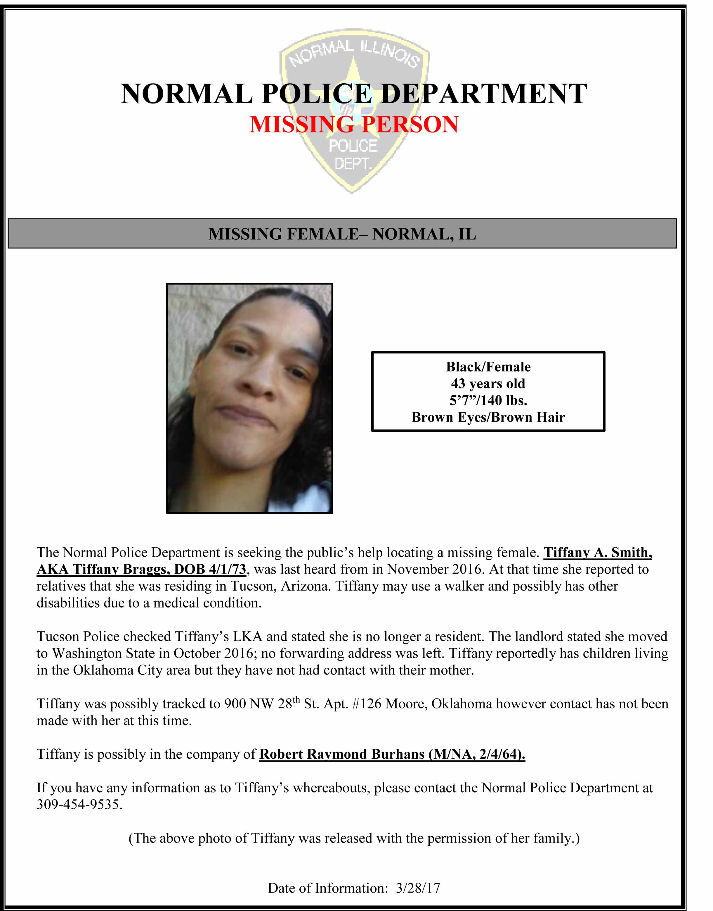 Missing Female - FLYER