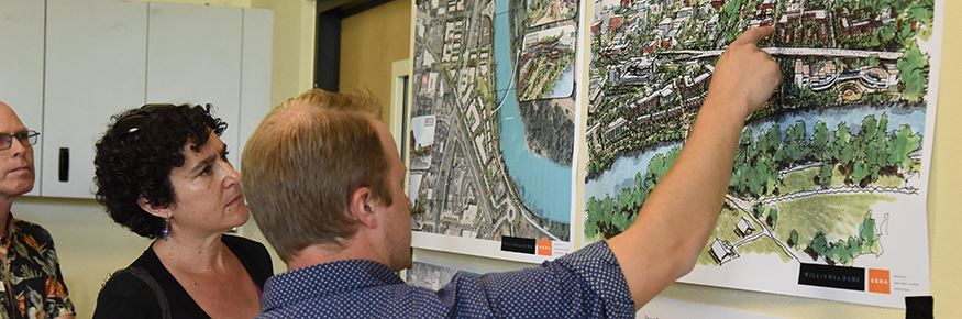 Urban Development Manager Will Dowdy answers questions about the proposed plan