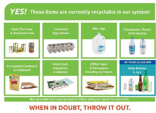 This links to a page with recycling info that explains what is recyclable in Eugene