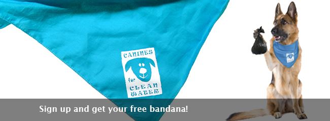 Canines for Clean Water bandana