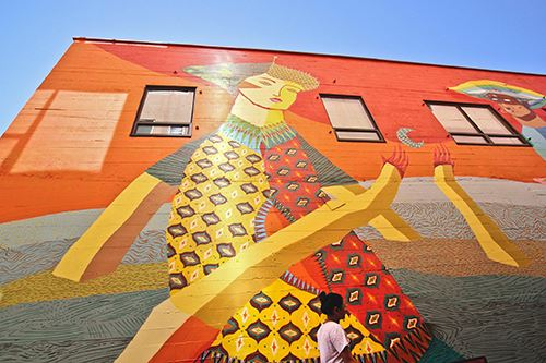 One of the new murals created in Eugene as part of the 20x21 EUG Mural Project