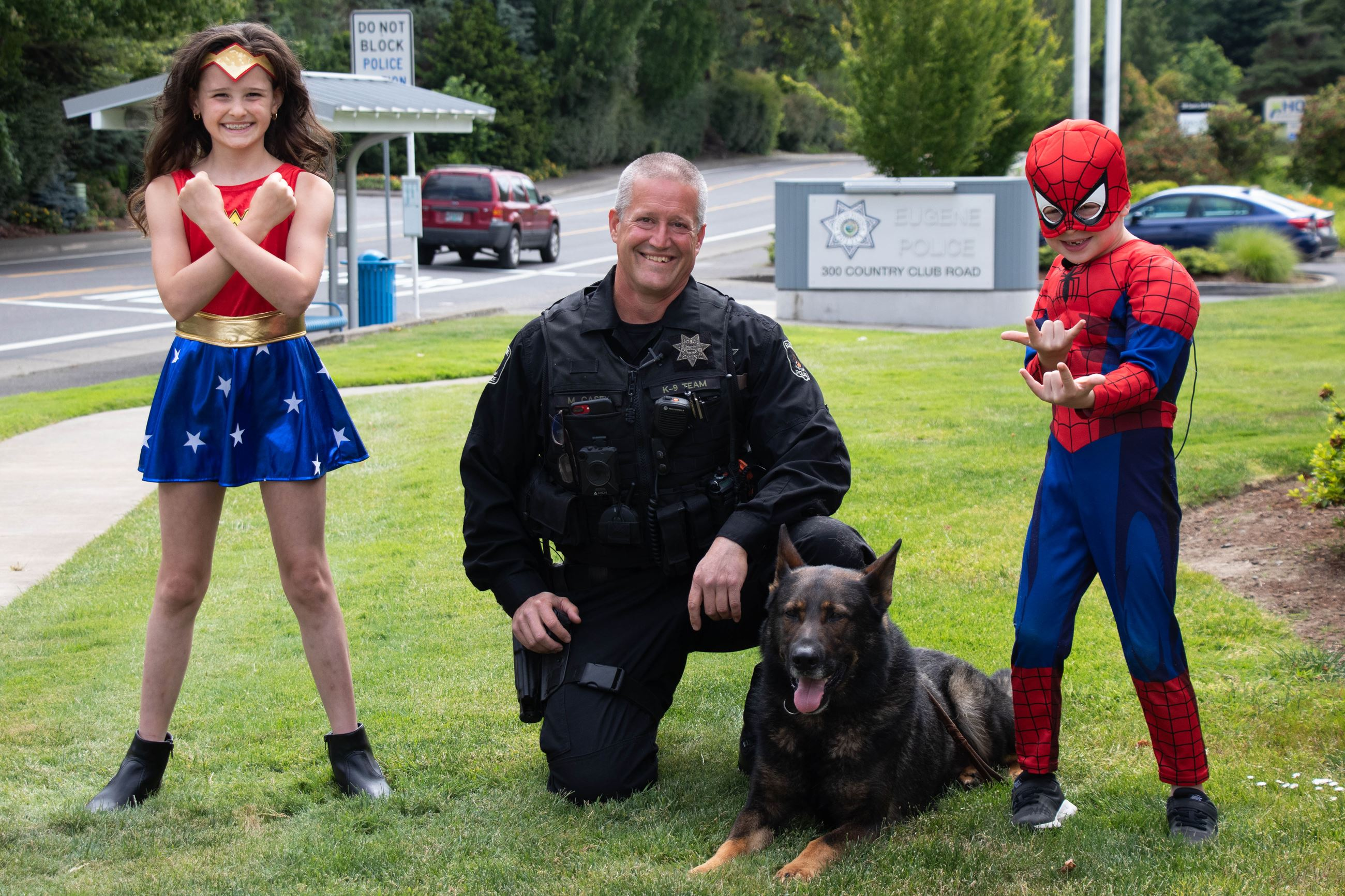 K9 and child superheros