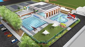 Overhead view of Echo Hollow Pool rendering