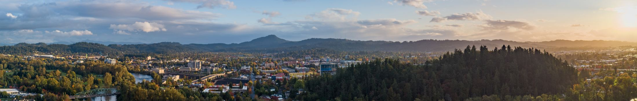 Overview of Eugene Oregon