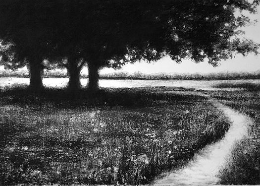 Heather Halpern Hopeful mezzotint