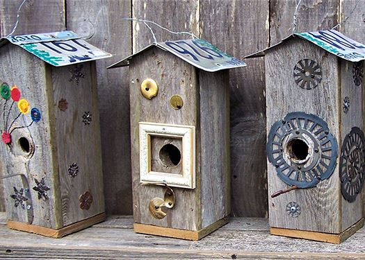 David Duckett bird houses