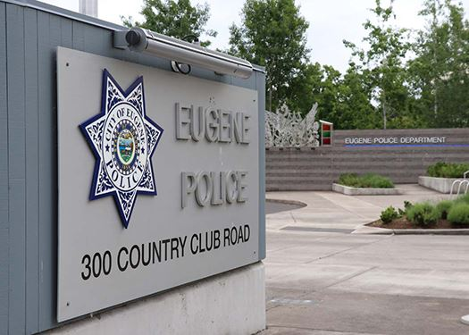 Eugene Police Headquarters Sign