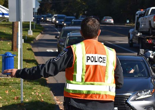 Officer in Traffic Safety Vest