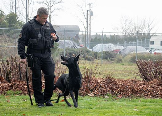 Officer Michael Casey and K9 Marco