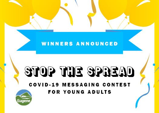 Stop the Spread COVID-19 Messaging Contest for Young Adults - Winners Announced