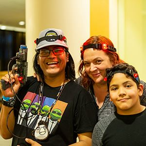 Family at Lasers at the Library