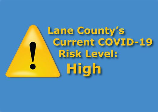 Lane County is Currently in the COVID-19 Risk Level High