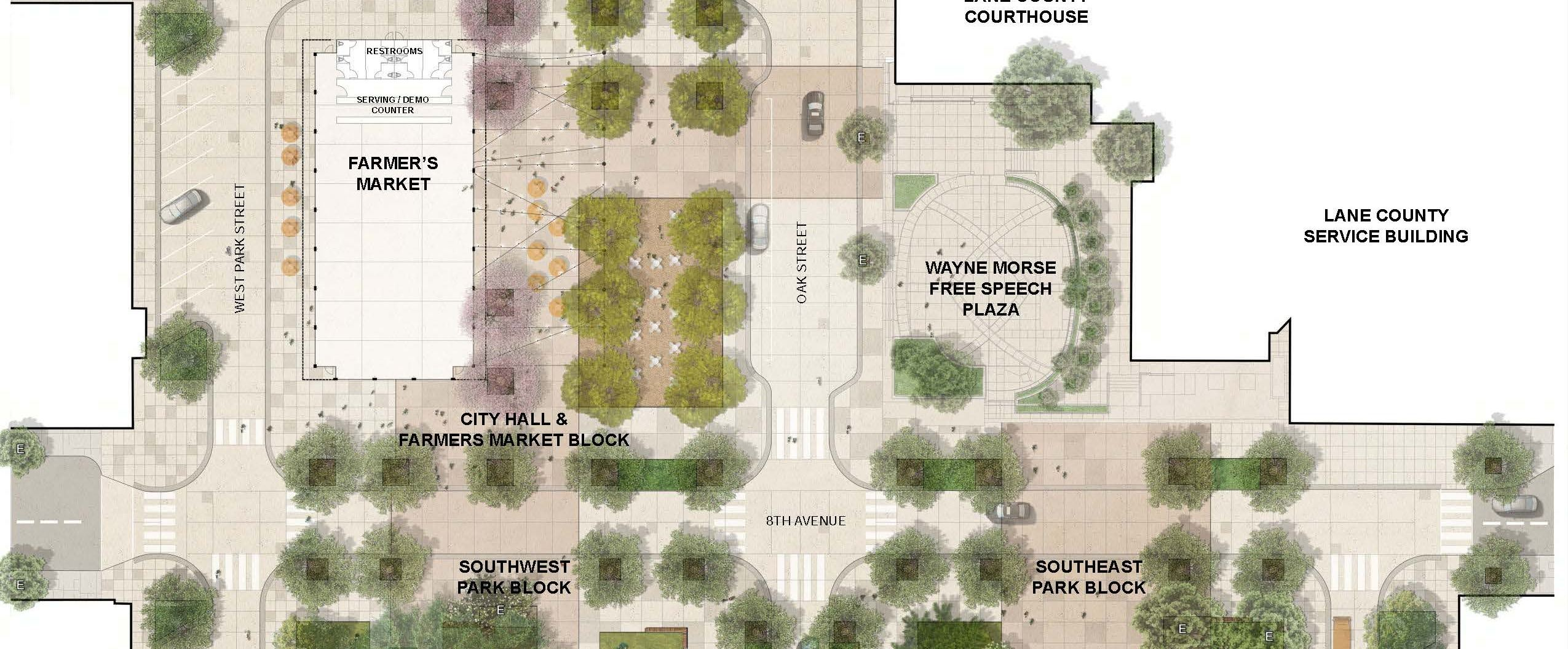 Park Blocks Site Plan Map.