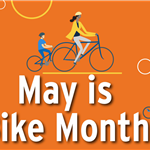Logo for May is Bike Month 2021