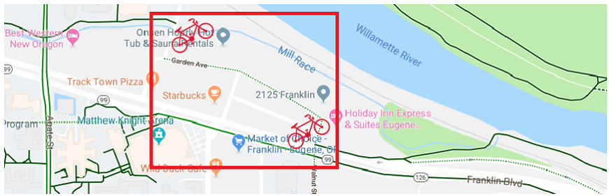 Bike Network Gap Along Garden Ave