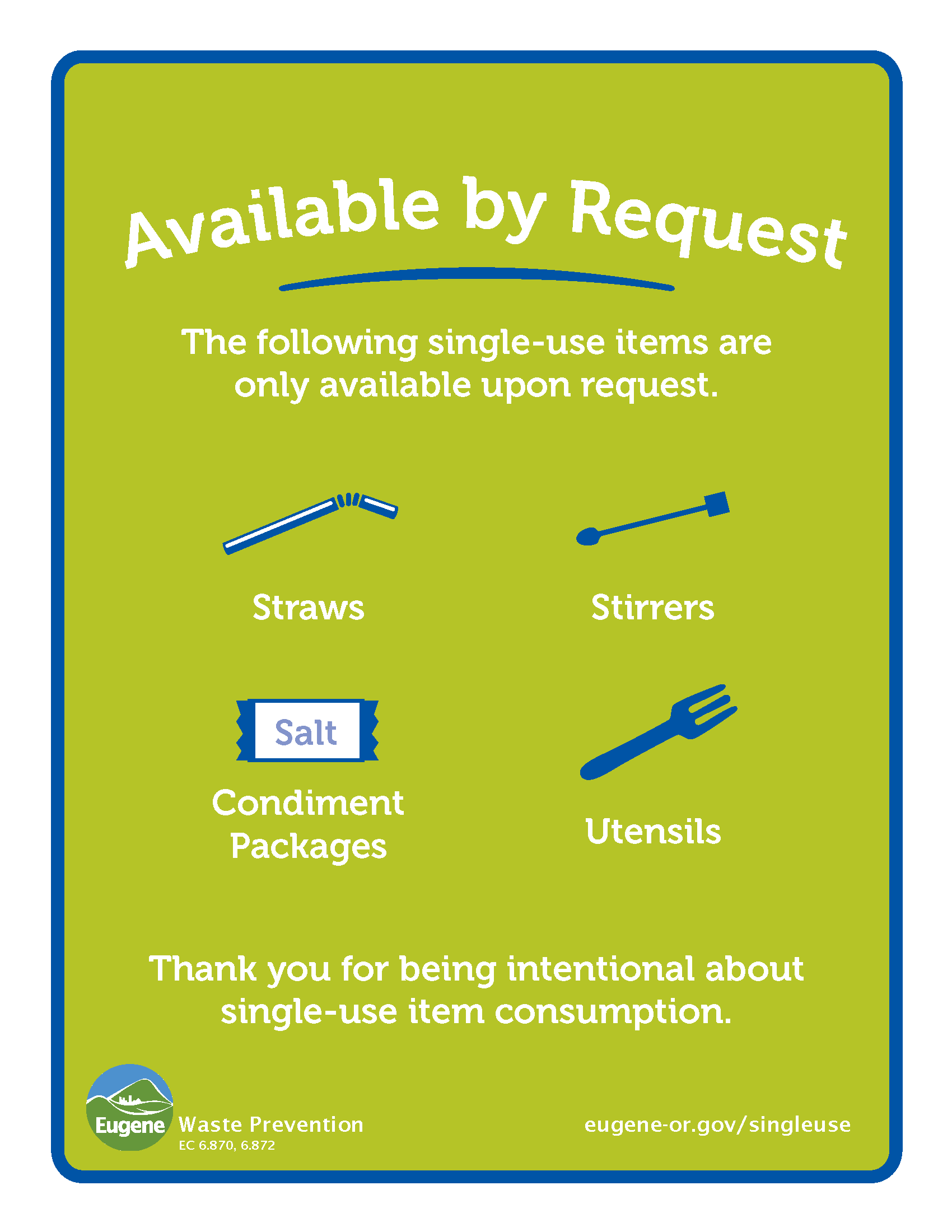 Single Use Items Printable Opens in new window