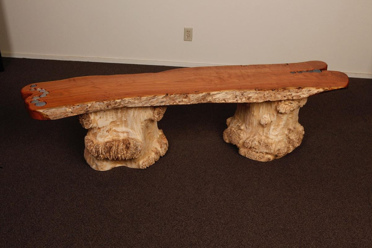Mesquite Entry Bench by Tim Boyden