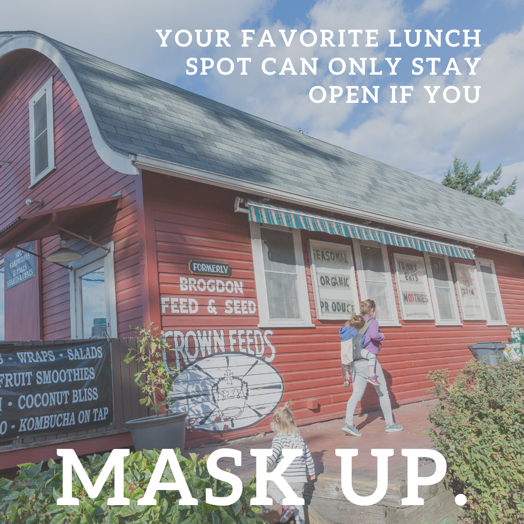 Your favorite lunch spot can only stay open if you mask up.