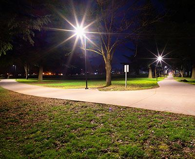 New bike path lighting