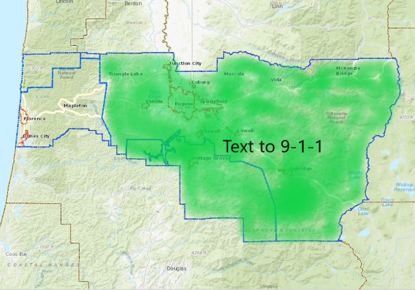 Text to 911 Map