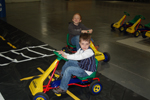 Preschoolers Ride in Safety Town Cars