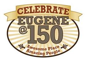 Logo Celebrate Eugene at 150 Awesome Place Amazing People